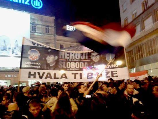 100,000 turn up to Zagreb's main square to welcome Gotovina