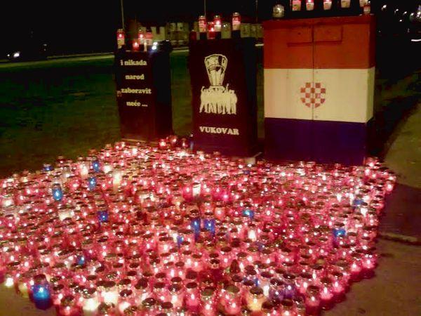 Zagreb Lights Up for Vukovar Remembrence Day