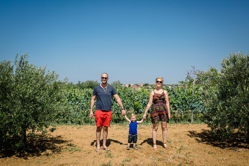 Begonja family photo in Croatia
