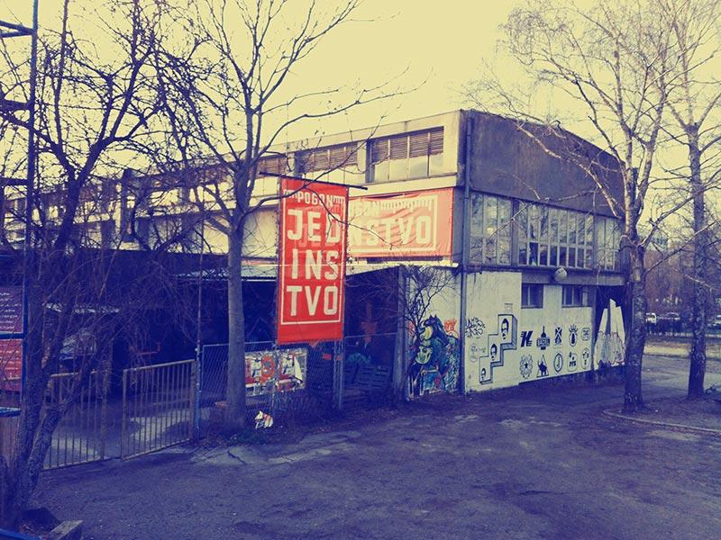 Once Jedinstvo factory, today Močvara club