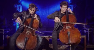 Hauser (left) is one half of the famous 2Cellos
