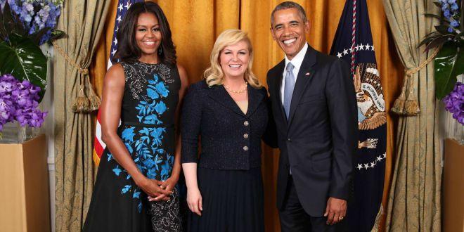 Croatia's President Meets the Obamas