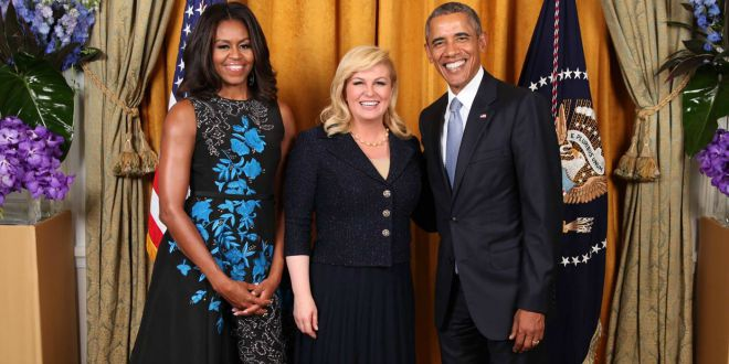 Croatia's President Meets the Obamas