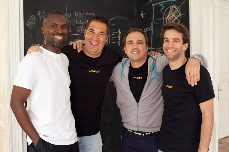 Oradian founders - Onyeka Adibeli, Andrew Mainhart , Antonio Separovic, Julian Oehrlein