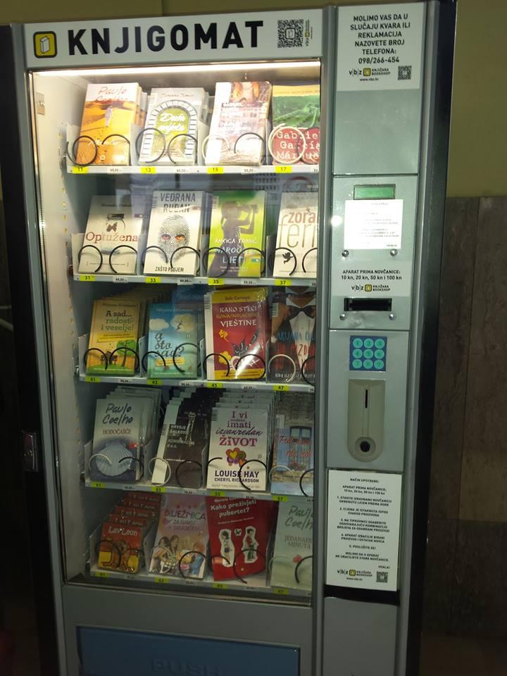 First Book Vending Machine At Zagreb S Main Train Station Croatia Week