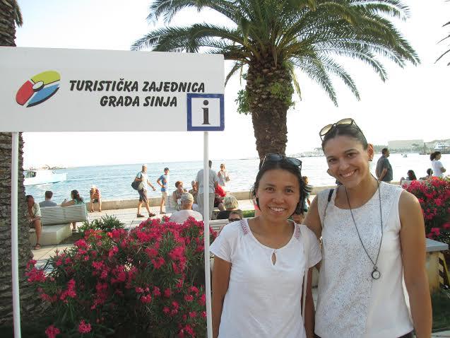 Valeria (L) in Split