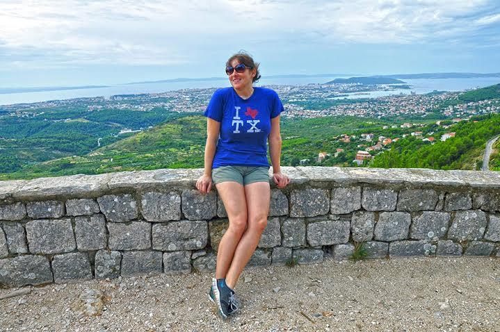 Sara on Klis fortress