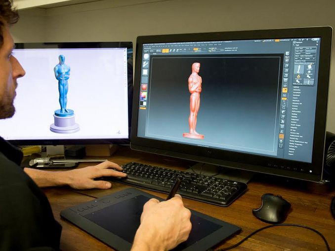 3-D imaging of the new statuette (photo: polich tallix)
