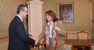 Tihomir Orešković meets with Juliete Valls Noyes on Monday (photo: vlada)