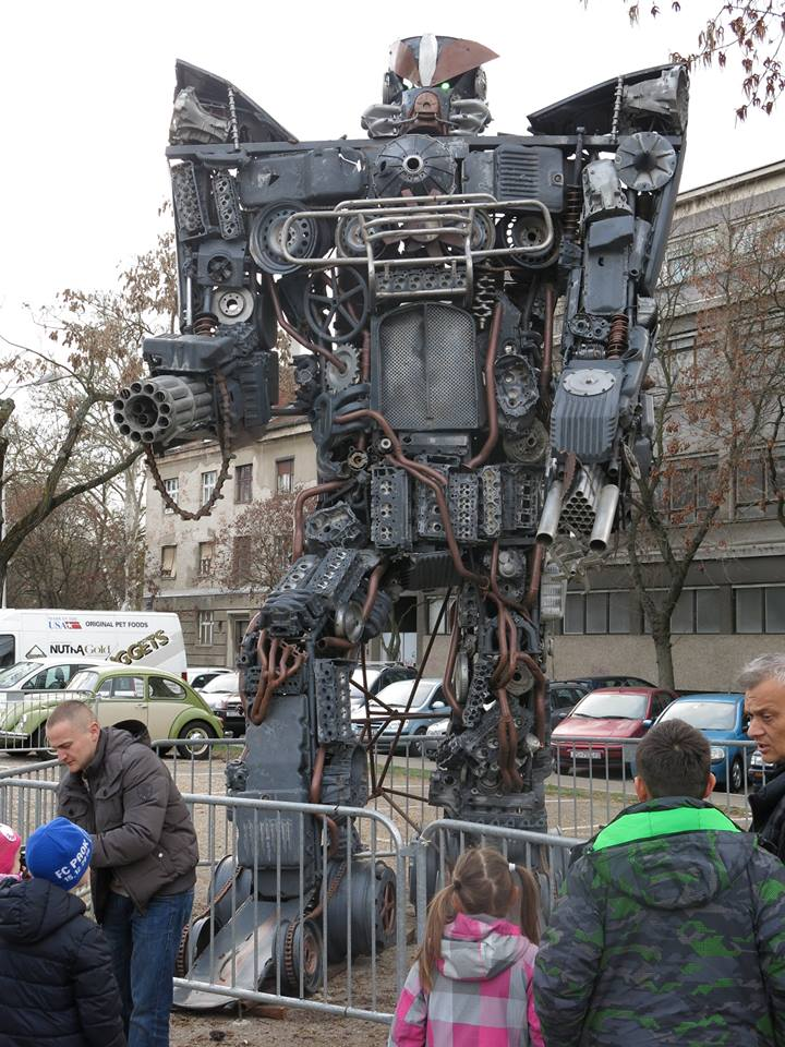 Transformers made from scrap metal (photo credit: Damir Tomić/Zakaj Volim Zagreb)