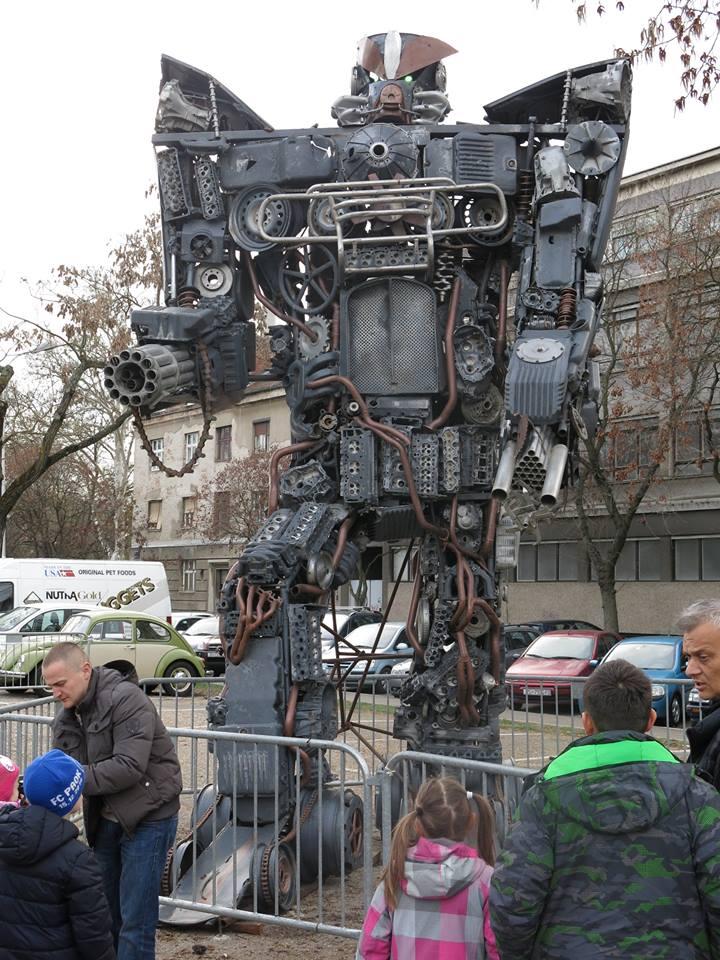 Transformers made from scrap metal (photo credit: Damir Tomić/Zakaj Volim Zagreb)