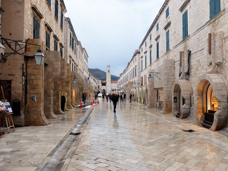 Dubrovnik's main street Stradun (photo credit: star wars dubrovnik)