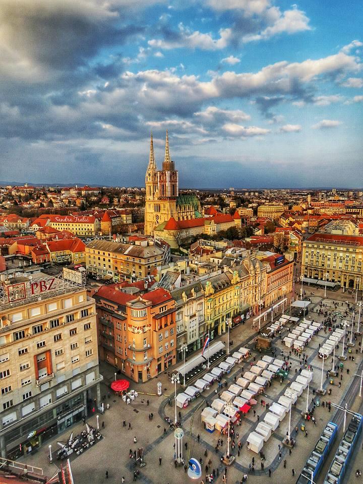 Only direct flight from North America to Zagreb (Zagreb's main square - photo: Sandra Tralić)