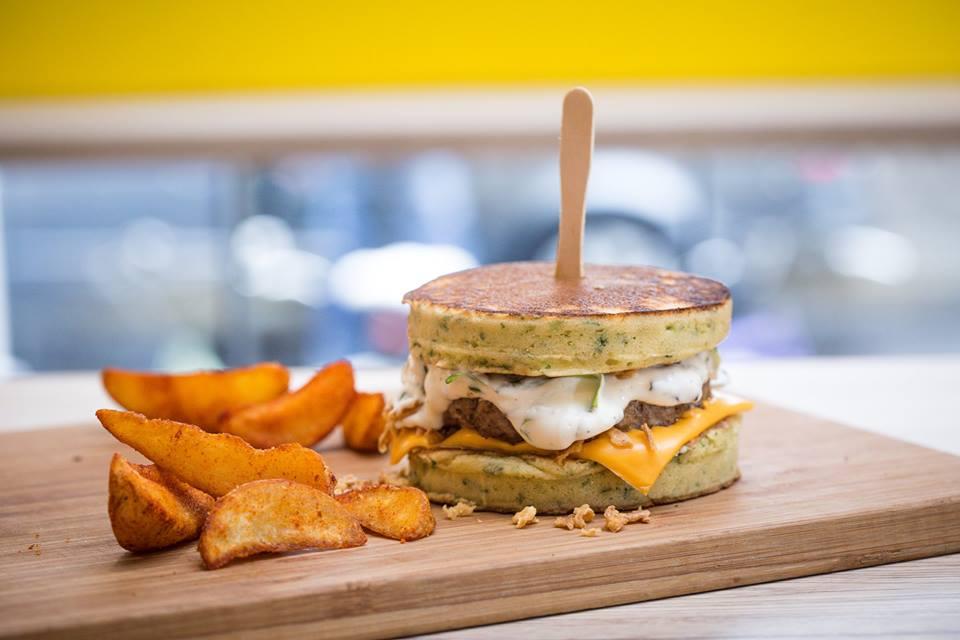 New burger at ChevapRolls - PanckBurger