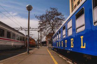 Zagreb 'train' hostel (photo: Adriatic Train Hostels)