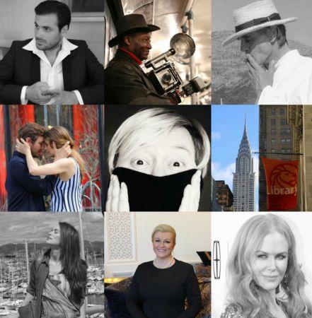 Marijana Marinovic, pictured centre, showcased beautiful portraits and snapshots of New York