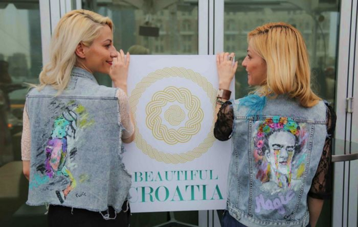 Curic fashion modelled by twin sisters, Marija and Ivana Curic