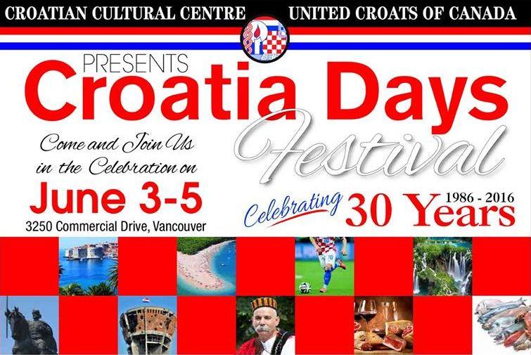 Croatia Days Festival to Celebrate 30th Anniversary in Canada