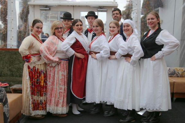 Hrvatska Ruža, Croatian folklore group from Astoria New York, performed at the event