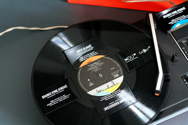 Croatian Design Creates Playable Business Cards from Old Vinyl Records