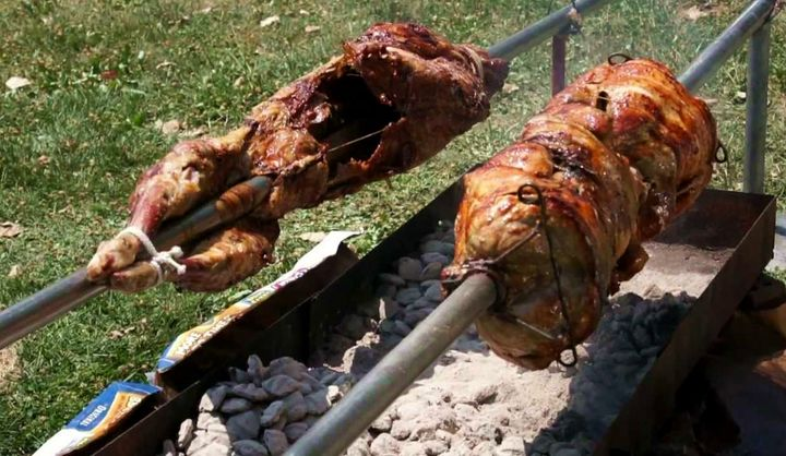 Lamb on the Spit (photo credit: Screenshot)