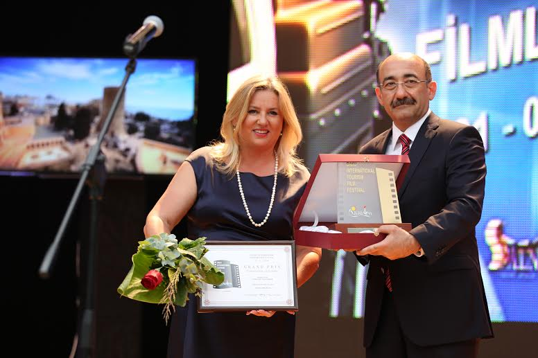 Spomenka Saraga collected the award which was presented by Azerbaijan's Minister of Tourism and Tourism Abdulfas Garayev