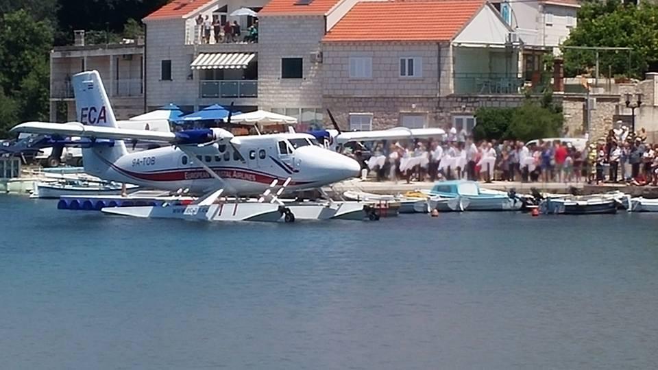 Lumbarda welcomes maiden flight (photo credit: Lumbardanet)