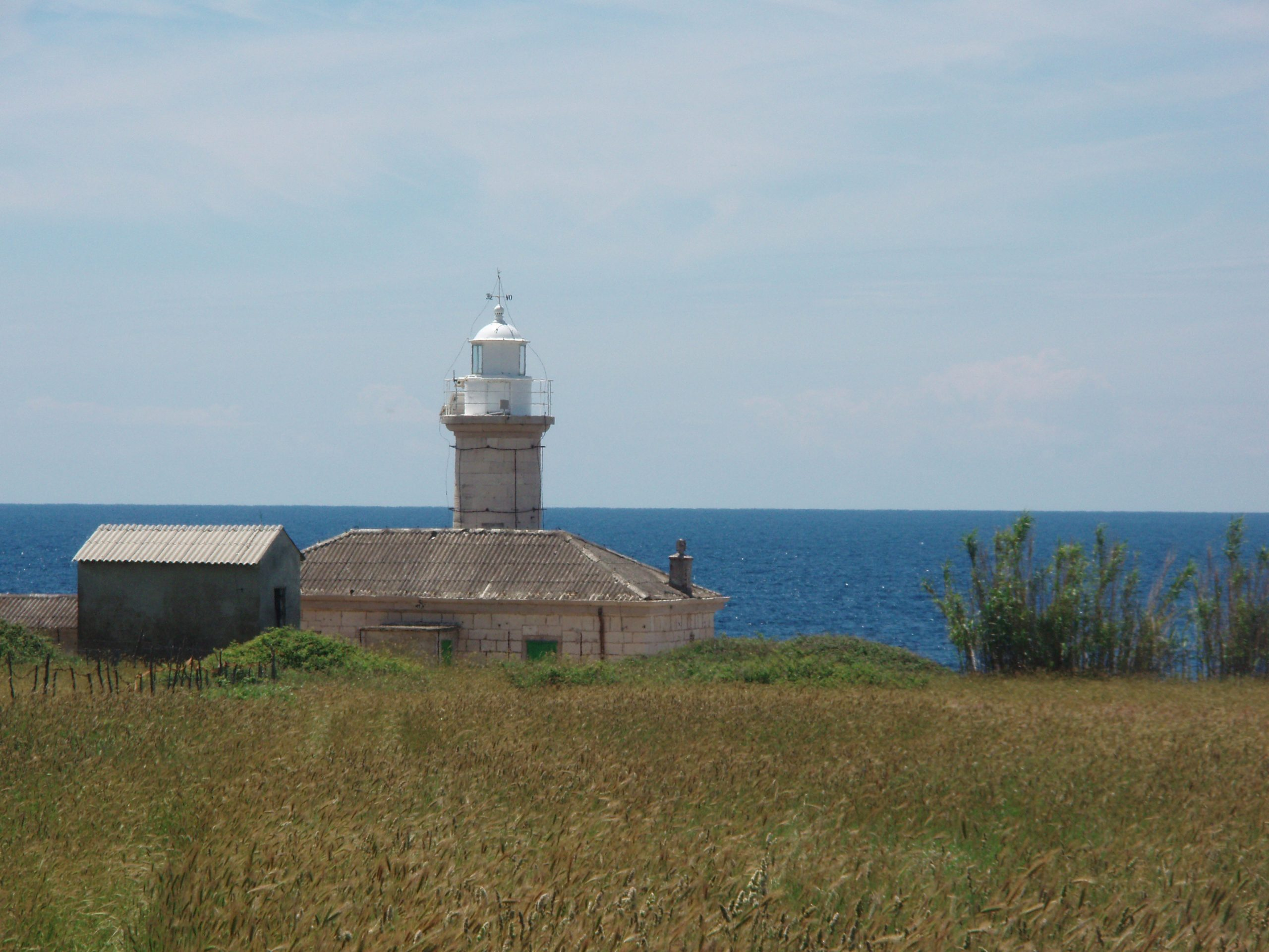 Vnetak Lighthouse on the southwestern part of Unije, automated and home to a flock of sheep. The poignant smell of sheep dung washes over you as you come near.