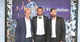 Ivan Ljubičić, Marin Čilić and Goran Ivanišević in London at the launch