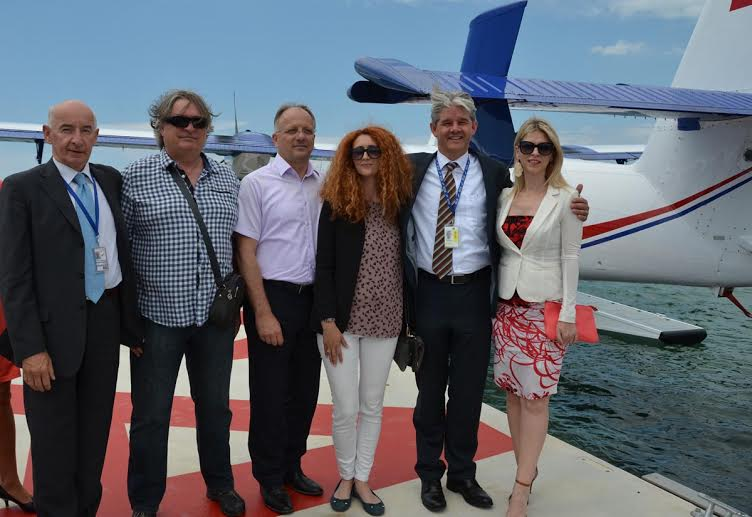 Seaplane lands for first time in Novalja yesterday