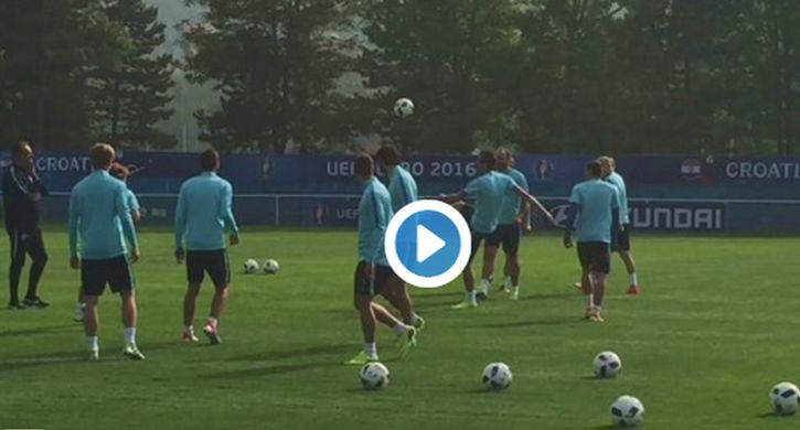 [VIDEO] Luka Modrić Loses €200 in Training Ground 'Keepy Uppy' Game