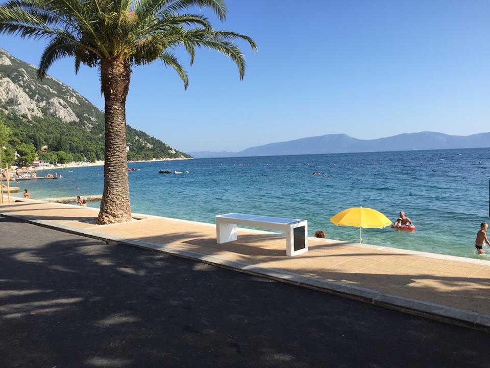 Smart benches popping up along the Croatian coast (photo: Steora)