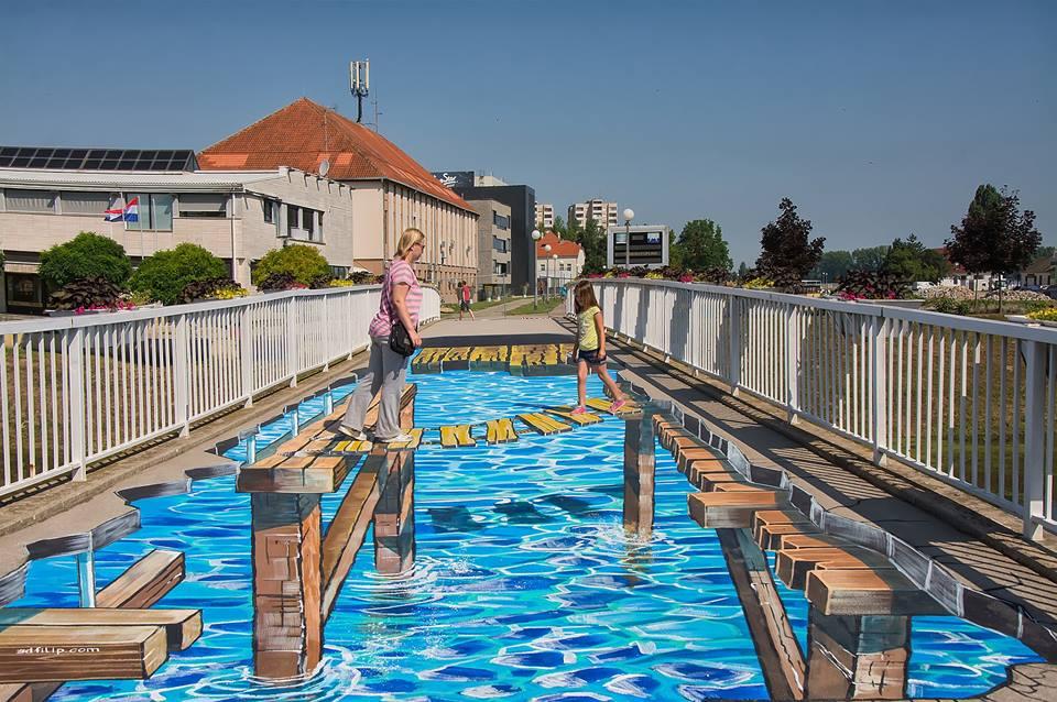 Awesome interactiv 3D att in Vukovar (photo credit: Vanja Vidakovic)
