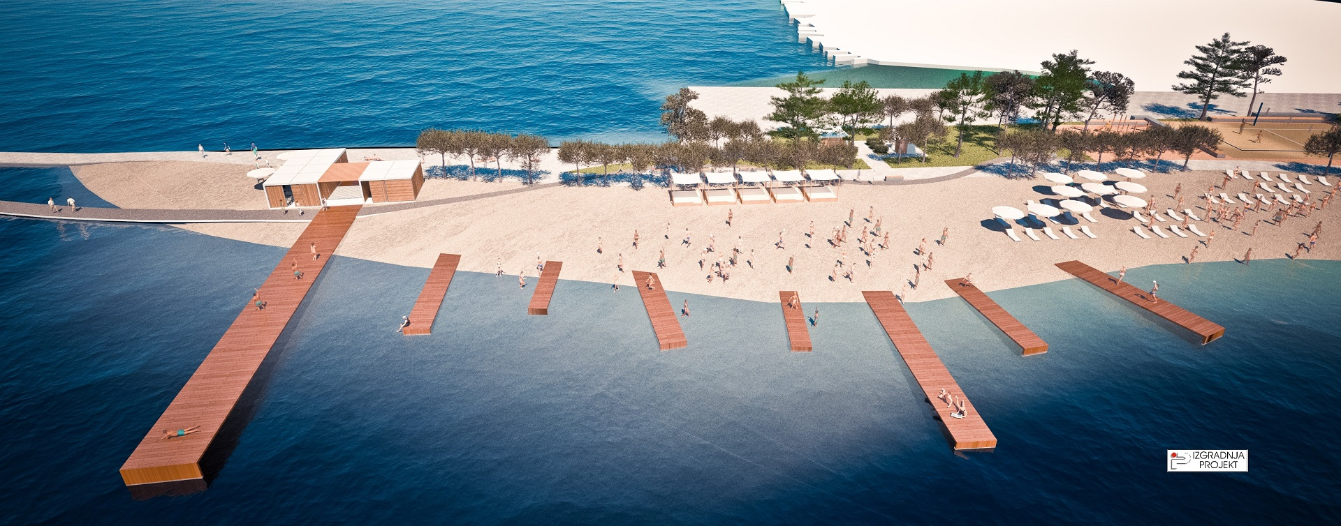 Brodarica beach makeover (photo: izgradnja projekt)