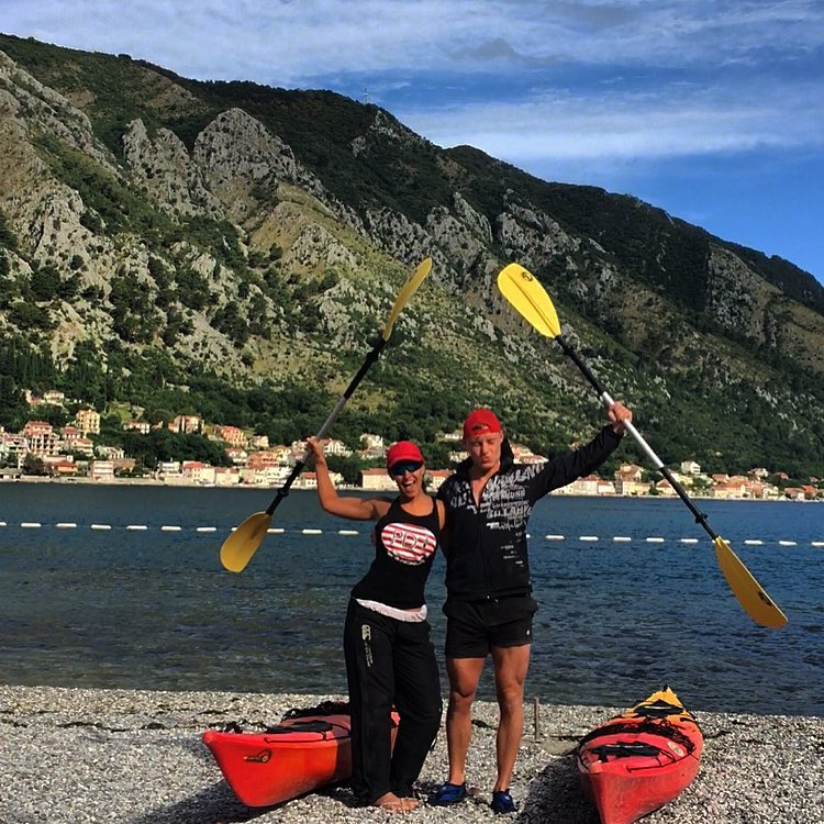 The couple say that kayaking was the most beautiful way to see the Croatia