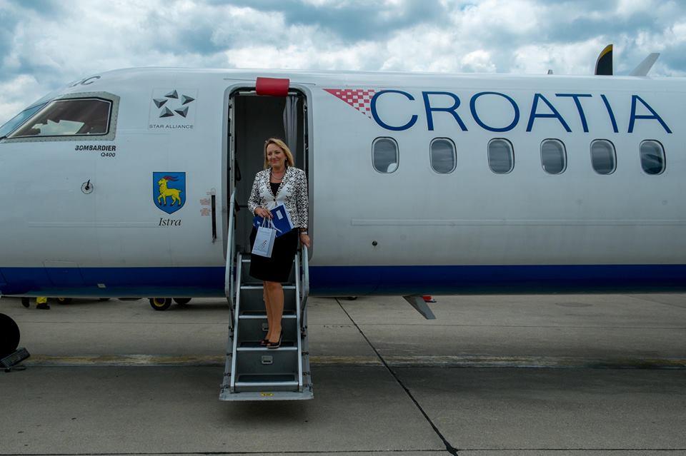 Suzana Brenko is Croatia Airline's millionth passenger (photo: Croatia Airlines)