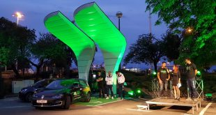 First solar-powered electric-vehicle charging station opens in Croatia (photo credit: croenergo.eu (T.M.) / FOSCROT / Tomislav Marjanović)