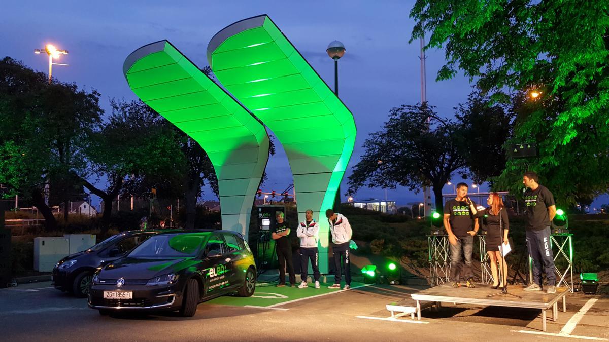 First solar-powered electric-vehicle charging station opens in Croatia (photo credit: croenergo.eu (T.M.) / FOSCROT / Tomislav Marjanović)