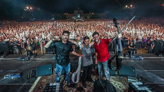 2CELLOS last night in Zagreb (photo: Facebook)