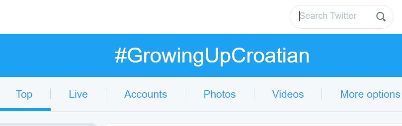 Hashtag #GrowingUpCroatian a Hit