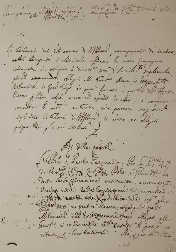 Document found in Zadar archives