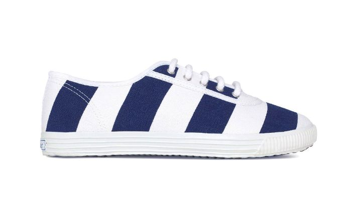 Startas Sailor broad navy stripe print sneakers (photo: www.startas-usa.com)