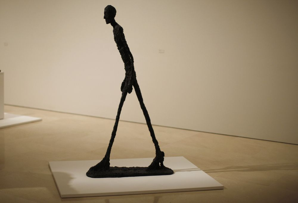 'Walking Man 1' sculpture (photo credit: Jon Nazca/Reuters)