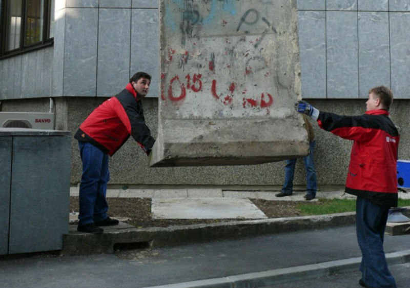 Segment of the Wall during the unveiling in Zagreb (photo credit: German Embassy)