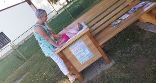 First breastfeeding bench in Croatia (photo credit: Croatian Breastfeeding Support Group - HUGPD)