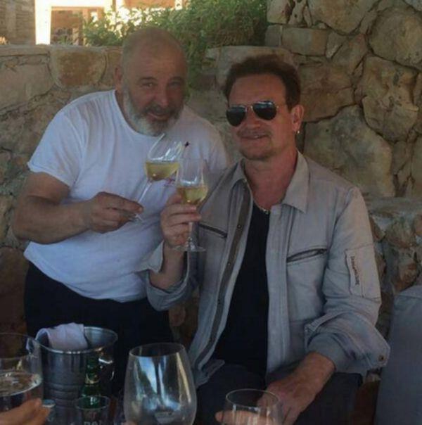 Croatian chef Hrvoje Zirojević with Bono today