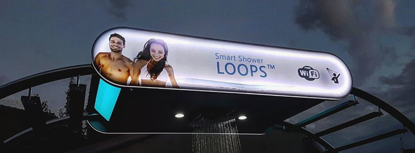 First Smart Shower LOOPS goes up (photo credit: Pitaya Solutions)