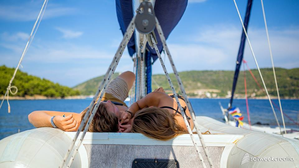 Relaxation (photo credit: Sail Week Croatia)
