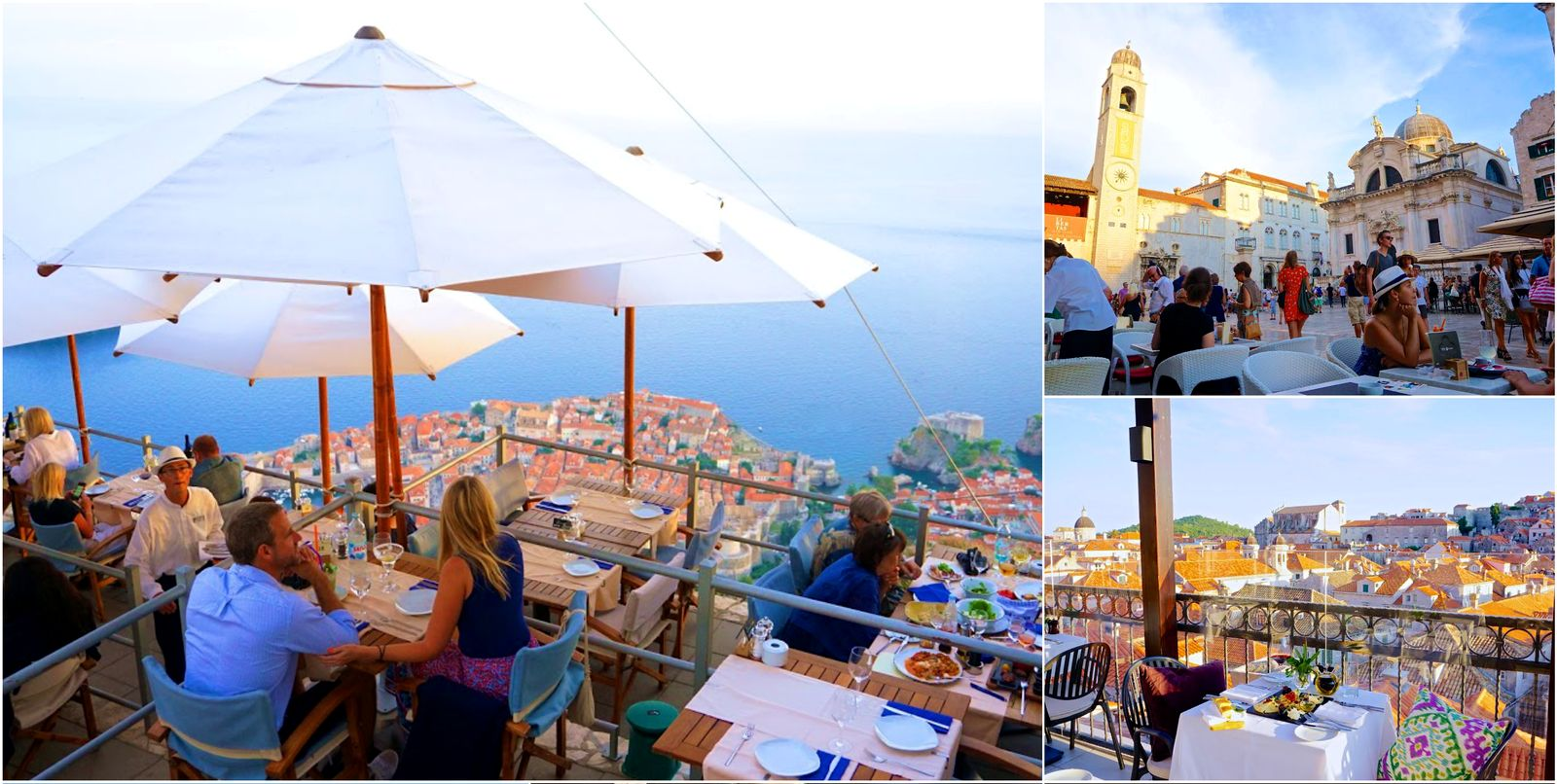 Dining in Dubrovnik with a view