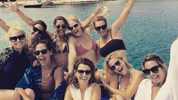 Witherspoon with friends on the coast this week (photo: Instagram)